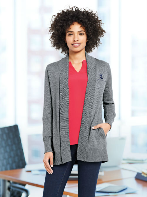 Shawl-cardigan-split-neck-top