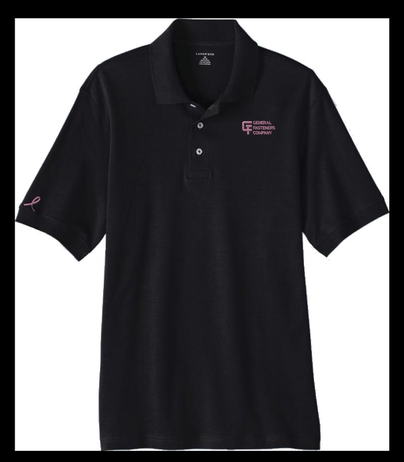 Black Shirt Pink Logos