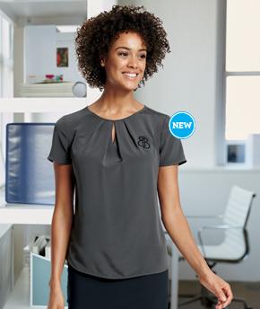 Keyhole-soft-blouse
