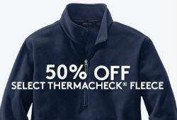 50% Off Thermacheck Fleece Jackets