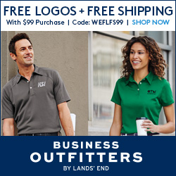 Free Logo Embroidery + Free Shipping w/ $99 Purchase