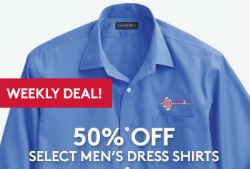 50% Off Select Dress Shirts